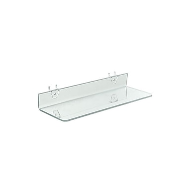 16in. x 4in. Acrylic Shelf For Pegboard/Slatwall, Clear