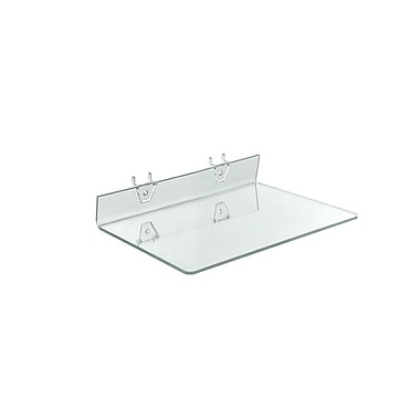 13 1/2in. x 8in. Acrylic Shelf For Pegboard/Slatwall, Clear