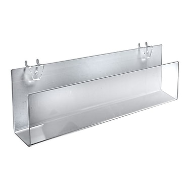 16in. Acrylic Greeting Card Holder For Pegboard/Slatwall, Clear