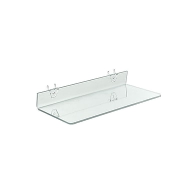16in. x 6in. Acrylic Shelf For Pegboard/Slatwall, Clear