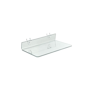 13 1/2in. x 6in. Acrylic Shelf For Pegboard/Slatwall, Clear