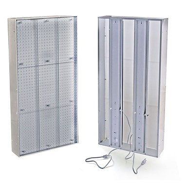 48in.(H) x 24in.(W) Pegboard Light Box System, Clear