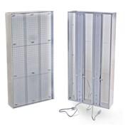 "Azar Displays 48""(H) x 24""(W) Pegboard Light Box System, Clear"