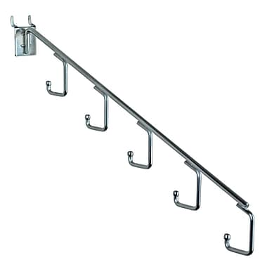 15in.(L) 5-Station Waterfall Faceout Hooks, Chrome