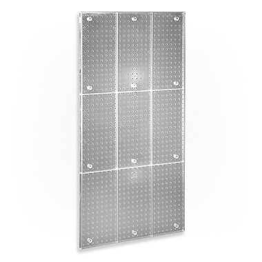48in.(H) x 24in.(W) Pegboard Wall Panel, Clear Frosted