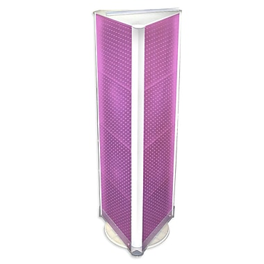 60in.(H) x 16in.(W) 3-Sided Pegboard Floor Display, Pink