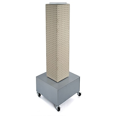 4-Sided Interlocking Pegboard Display Towers With Wheels, 40
