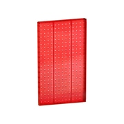 """Azar Displays 22""""(H) x 13 1/2""""(W) Pegboard 1-Sided Wall Panel, Translucent Red"""