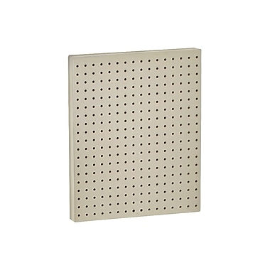 20in.(H) x 16in.(W) Pegboard 1-Sided Wall Panel, Solid Almond