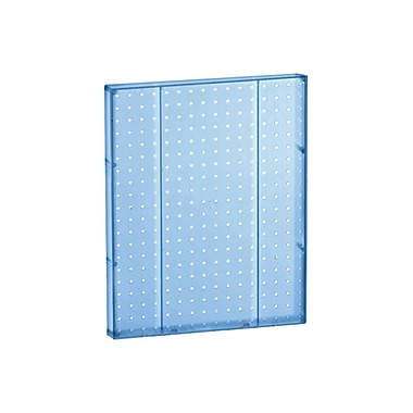 20in.(H) x 16in.(W) Pegboard 1-Sided Wall Panel, Translucent Blue