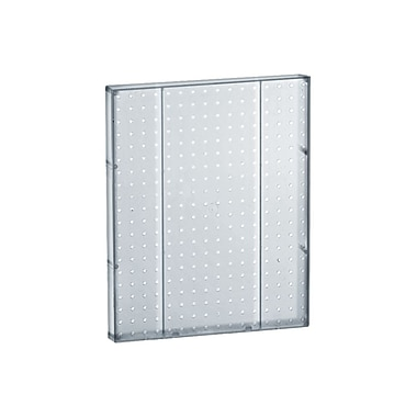 20in.(H) x 16in.(W) Pegboard 1-Sided Wall Panel, Translucent Clear