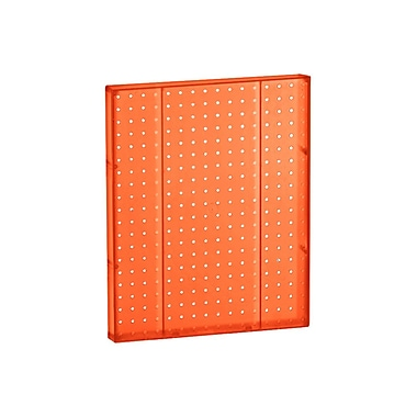 20in.(H) x 16in.(W) Pegboard 1-Sided Wall Panel, Translucent Orange