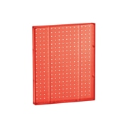 """Azar Displays 20""""(H) x 16""""(W) Pegboard 1-Sided Wall Panel, Translucent Red"""