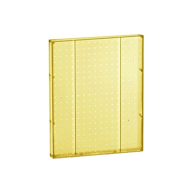 20in.(H) x 16in.(W) Pegboard 1-Sided Wall Panel, Translucent Yellow