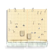 Azar Displays Pegboard Organizer Kit, Almond