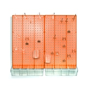 Azar Displays Pegboard Organizer Kit, Orange Frosted