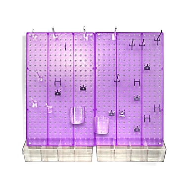 Azar Displays Pegboard Organizer Kit, Purple Frosted
