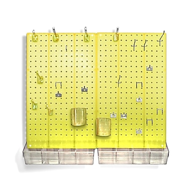 Azar Displays Pegboard Organizer Kit, Yellow Frosted