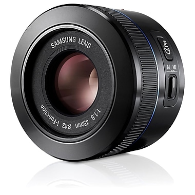 Samsung EX-S45ANB/US 45mm f/1.8-22 NX DSLR Camera Lens, Black