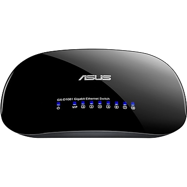 Asus GX-D1081 V3 Desktop Switch with Green Network, 8 Ports