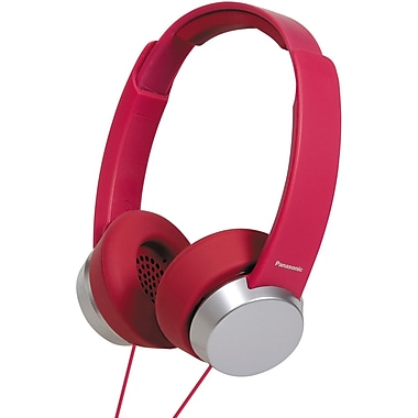 Panasonic RP-HXD3W-R Monitor Headphone, Red/Silver