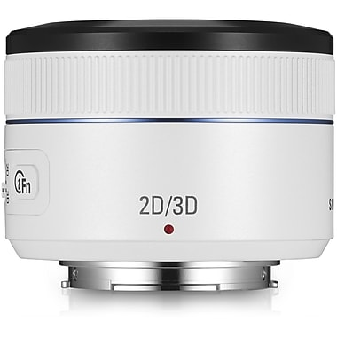Samsung EX-S45ADW/US 45mm f/3.5-22 DSLR NX Camera Lens, White