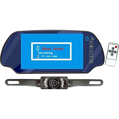 Pyle PLCM7300BT Car Accessory Kit With 7in. TFT Mirror Monitor