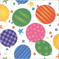 Shamrock 20in. x 30in. Festive Balloons Printed Tissue Paper, White/Yellow/Green/Purple/Pink