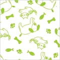 Shamrock 20in. x 30in. Just Fur Fun Printed Tissue Paper, Green/White