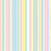 Shamrock 20 x 30 Baby Stripes Printed Tissue Paper, Pink/Yellow/Blue/White/Green