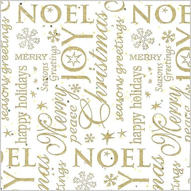 Shamrock 20in. x 30in. Noel Printed Tissue Paper, White/Gold/Assorted