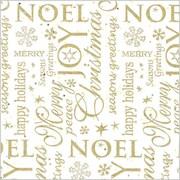 Shamrock 20 x 30 Noel Printed Tissue Paper, White/Gold/Assorted