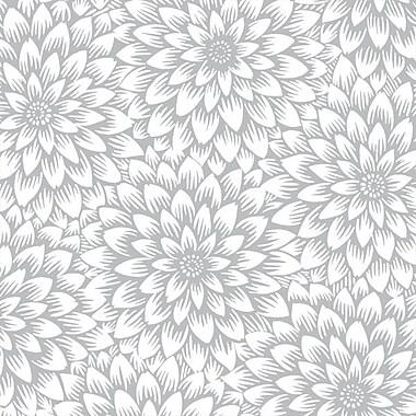 Shamrock 20in. x 30in. Chrysanthemum Printed Tissue Paper, Silver