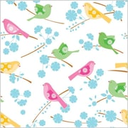 Shamrock 20 x 30 Songbirds Printed Tissue Paper, White/Blue/Green/Pink/Brown