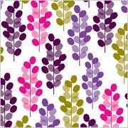 Shamrock 20 x 30 Leafy Garden Printed Tissue Paper, White/Green/Purple/Pink