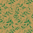 Shamrock 20in. x 30in. Total Holly Leaves Printed Tissue Paper, Green/Kraft Brown