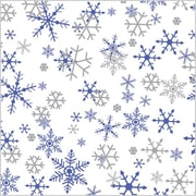 Shamrock 20 x 30 Silver & Purple Snowflakes Printed Tissue Paper