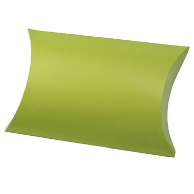 Shamrock 10 3/8in. x 6in. Gift Pillow, Metallic Leaf Green