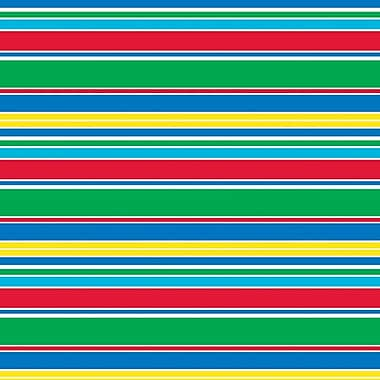 Shamrock 20in. x 30in. Cabana Stripes Printed Tissue Paper, Red/Green/Blue/Yellow