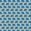 Shamrock 20in. x 30in. Elephants Printed Tissue Paper, Brown/Blue