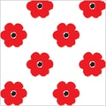 Shamrock 20in. x 30in. Flowers at Large Printed Tissue Paper, Red/White