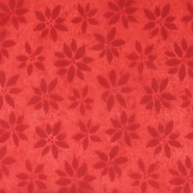 Shamrock 20in. x 30in. Poinsettia Reflections Printed Tissue Paper, Red