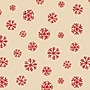 Shamrock 20 x 30 Homespun Snowflake Kraft Printed