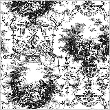 Shamrock 20in. x 30in. Traditional Toile Printed Tissue Paper, White/Black