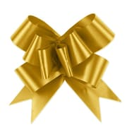 Shamrock Bow Magic® Splendorette® Butterfly 4(dia) Pull Bow With 38 Band Ribbon, Gold