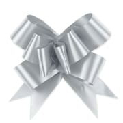 Shamrock Bow Magic® Splendorette® Butterfly 4(dia) Pull Bow With 38 Band Ribbon, Silver