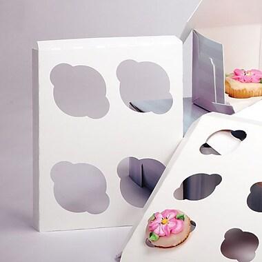 Shamrock 7in. x 7in. x 1/2in. Cupcake Inserts, 4 Standard