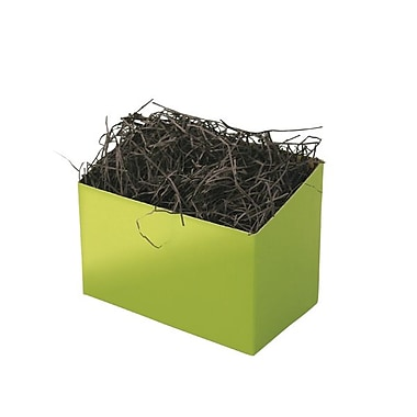 Shamrock 6 3/4in. x 4in. x 5in. Basket Box, Shimmer Frost Leaf Green