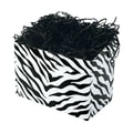 Shamrock 9in. x 5in. x 7 1/2in. Zebra Stripes Basket Box, Black on White