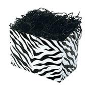 Shamrock 9 x 5 x 7 1/2 Zebra Stripes Basket Box, Black on White
